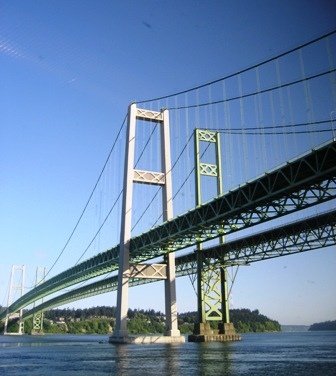 Tacoma Narrows Bridge by Tommia Wright