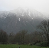 Mount Si Christmas Eve by Tommia Wright