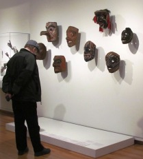 Man and Masks at SAM by Tommia Wright