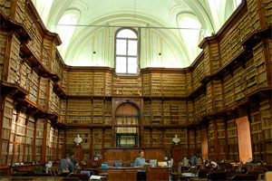 Biblioteca Angelica - Rome, Photo from http://www.aboutroma.com/libraries-in-rome.html