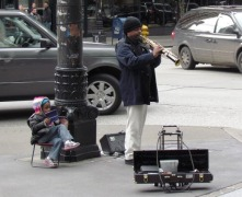 Corner Clarinet Player by Tommia Wright