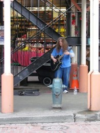 Guitarist at the Market, Too by Tommia Wright