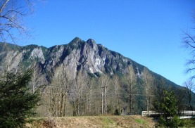 Mount Si from Three Rivers Park by Tommia Wright