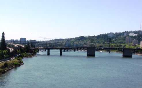 River Crossing in Portland by Tommia Wright