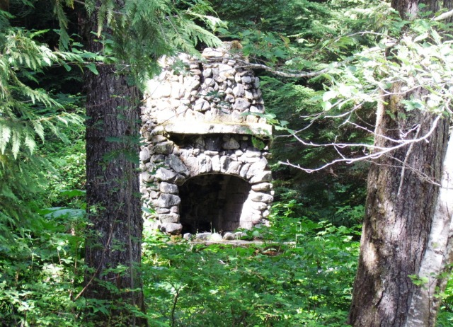 Fireplace in the Woods