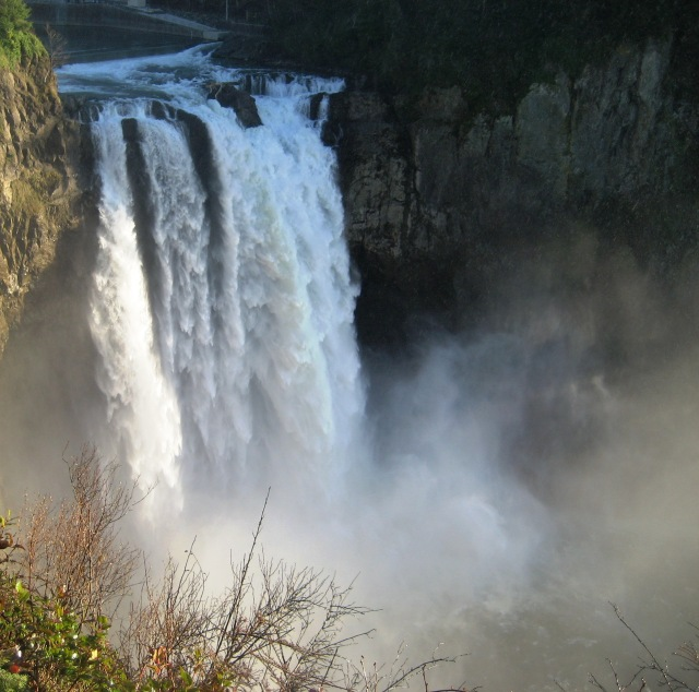 Snoqualmie Falls in Spring