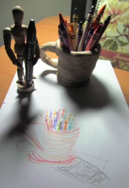 crayons and clay