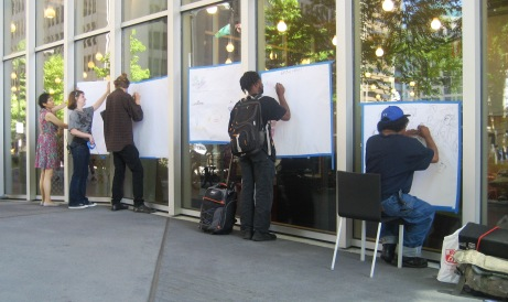 """""""Sketchers Meet Up"""" at the Seattle Public Library"""