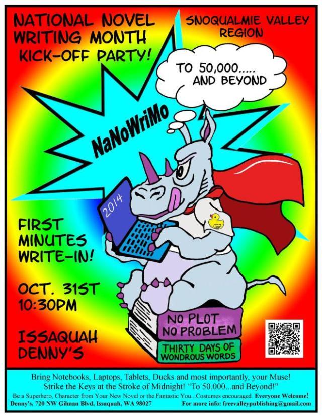 NaNo Kickoff flyer 2014