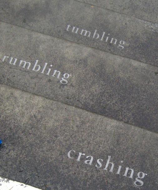 crashing rumbling tumbling