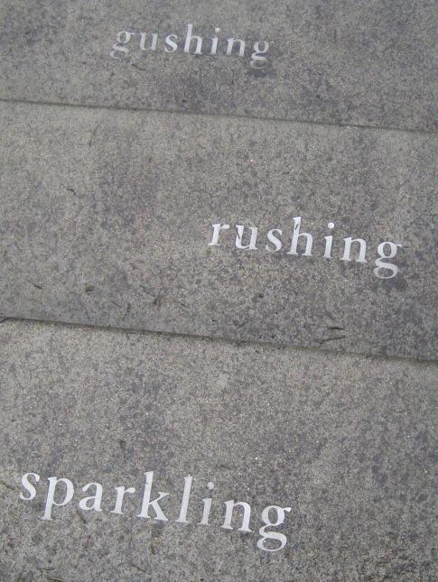 sparkling rushing gushing