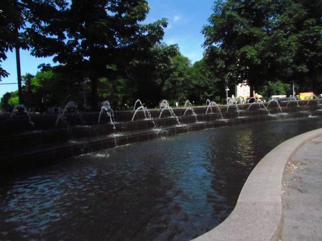 Fountain at Columbus Circle