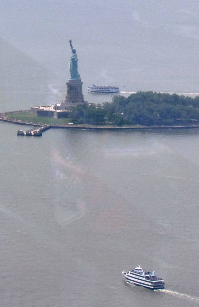 Statue of Liberty from One World Observatory 2015