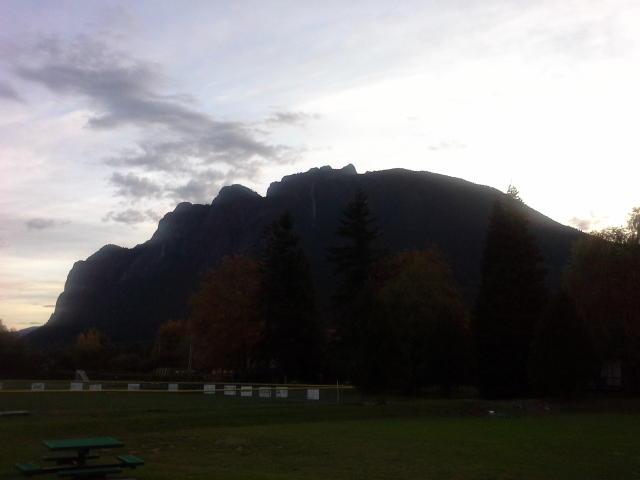 Mount Si on a Fall   Morning 2015