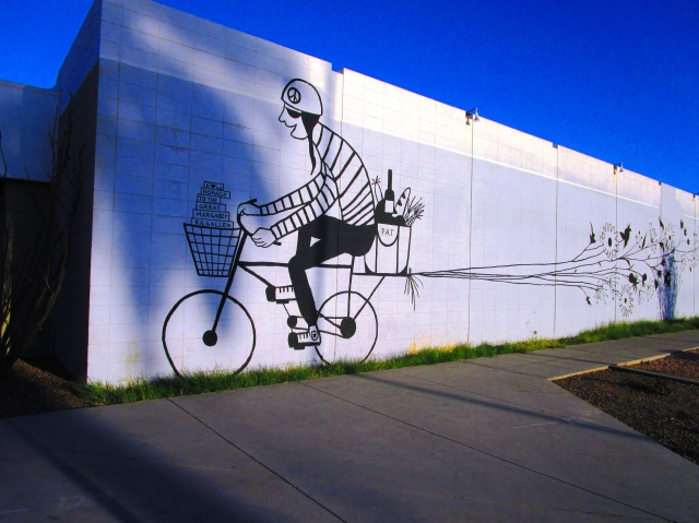 Bicyclist on the Wall.JPG