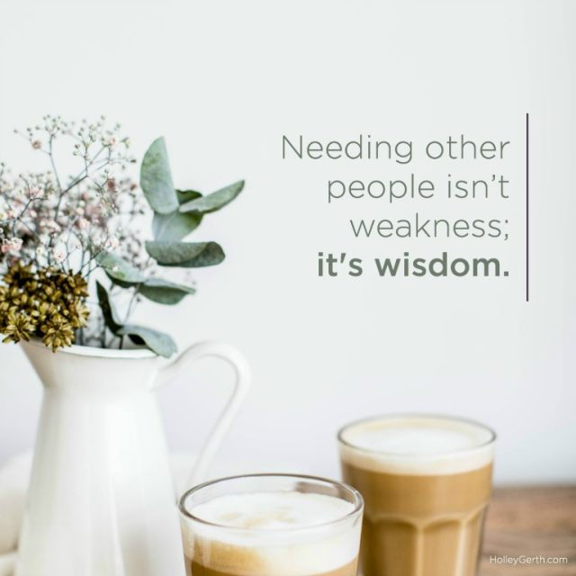 It's Wisdom - Holley Gerth